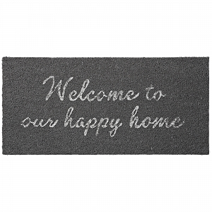Wycieraczka WELCOME TO OUR HAPPY HOME czarna Lene Bjerre
