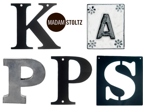 litery dekoracyjne Madam Stoltz